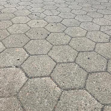 2000m2 Hexagon klinkers, betonklinkers, keiformaat, 8cm dik, grijs, VEN3
