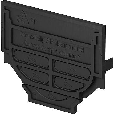 ACOHexaline set eindplaten zwart, onderuitloop en bladkorf HEX(2012)