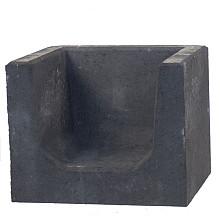 U-hoekelement 50x40x40 cm Antraciet