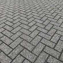 Gebruikte betonklinkers, 8cm dik, grijs / heide