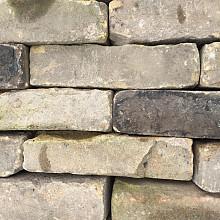 Ca. 15m² Oude Gebakken Klinkers, Waalformaat, Geel-Brons, P012