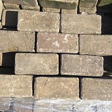 Ca. 4m² Oude Gebakken Klinkers, Keiformaat, Geel-Brons, P015