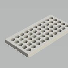 Betonplaat gras - Wap. D8 - 200X100X12 - BETONGRIJS