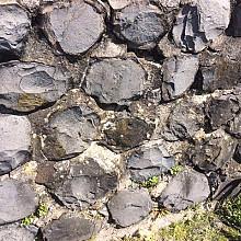 V24, Kademuur, Keerwand, Trapelement, Basalt
