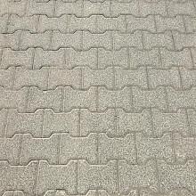 2000m2 H-klinkers, betonklinkers, keiformaat, 8cm dik, grijs, VEN1