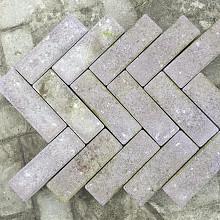 Ca. 5m² Betonklinkers, Dikformaat, Heide, P022